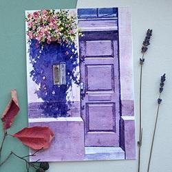 Городские зарисовки «Старая дверь с историей»